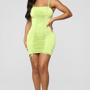 Coming For Your Love Ruched Mini Dress